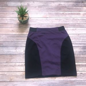 Michael Kors Purple And Black Skirt Size 2
